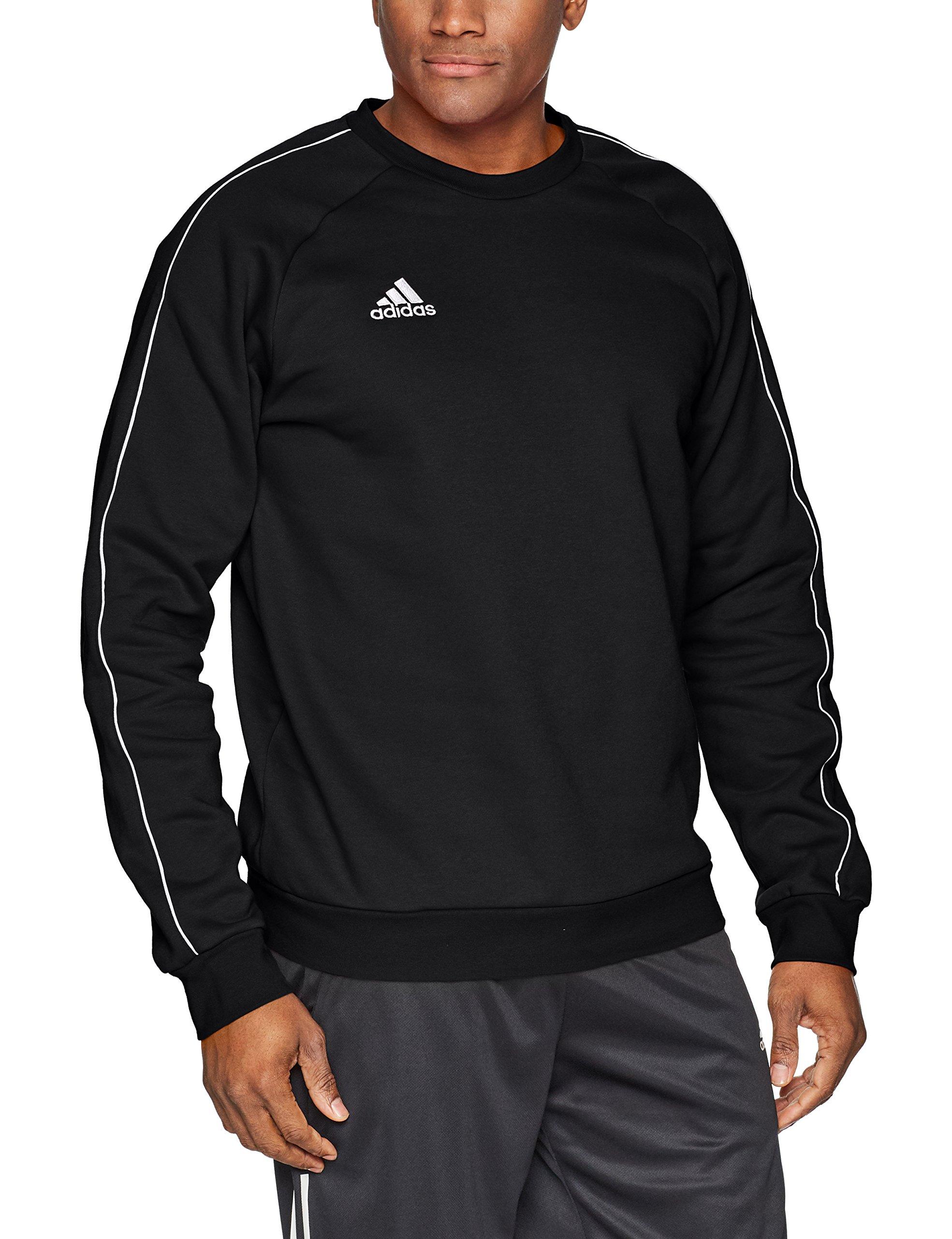 adidas Men's Core 18 Soccer Sweatshirt, Black/White, X-Small