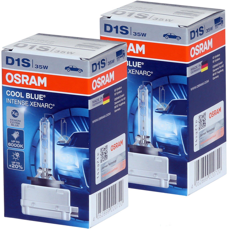 D1S Cool Blue Intense Osram Xenarc 66140CBI HID Bulbs Pack of 2