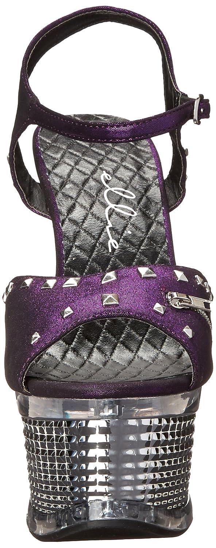 Ellie Shoes Women's 649-Zane Platform Sandal B0053V2OUU 7 B(M) US|Purple