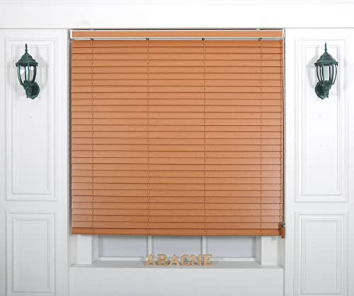 Custom Cut to Size , Winsharp Wood Uvclassic , uvclassic_901, W 65 x H 82 Inch Horizontal Window Real Wood basswood Blinds Treatments , Maximum 95 Inch Wide by 103 Inch Long