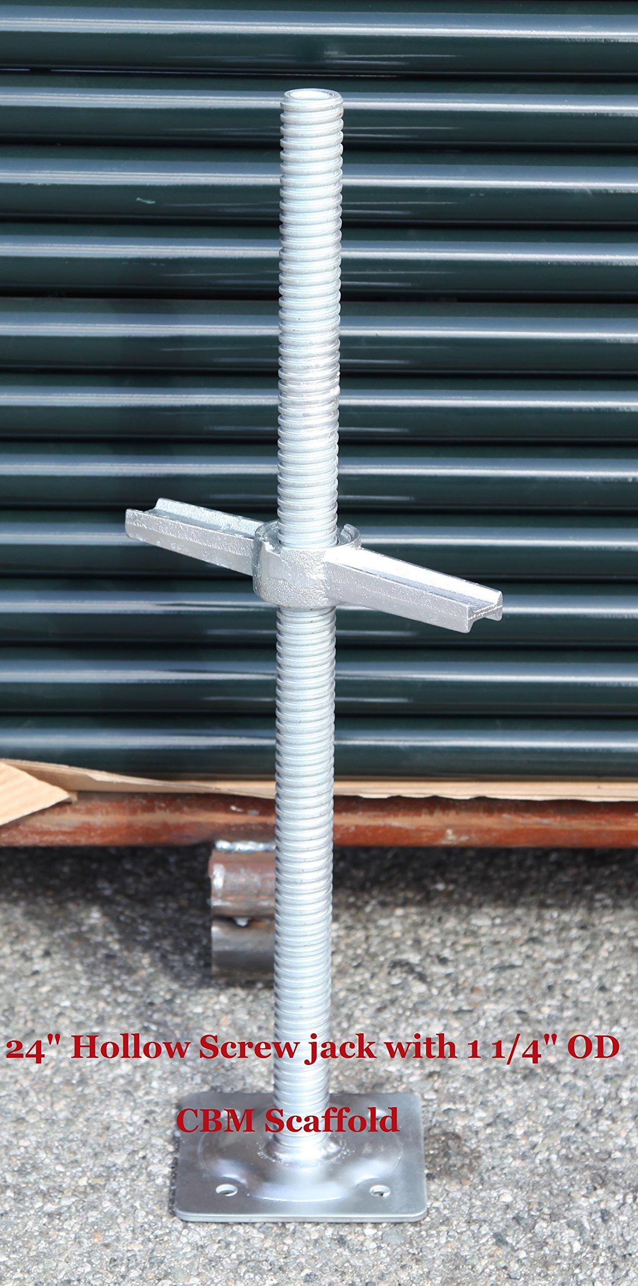 CBM Scaffold 24'' Adjustable Leveling screw Jack with 1 1/4'' OD Model# SJHL1 by Scaffold Base Plate