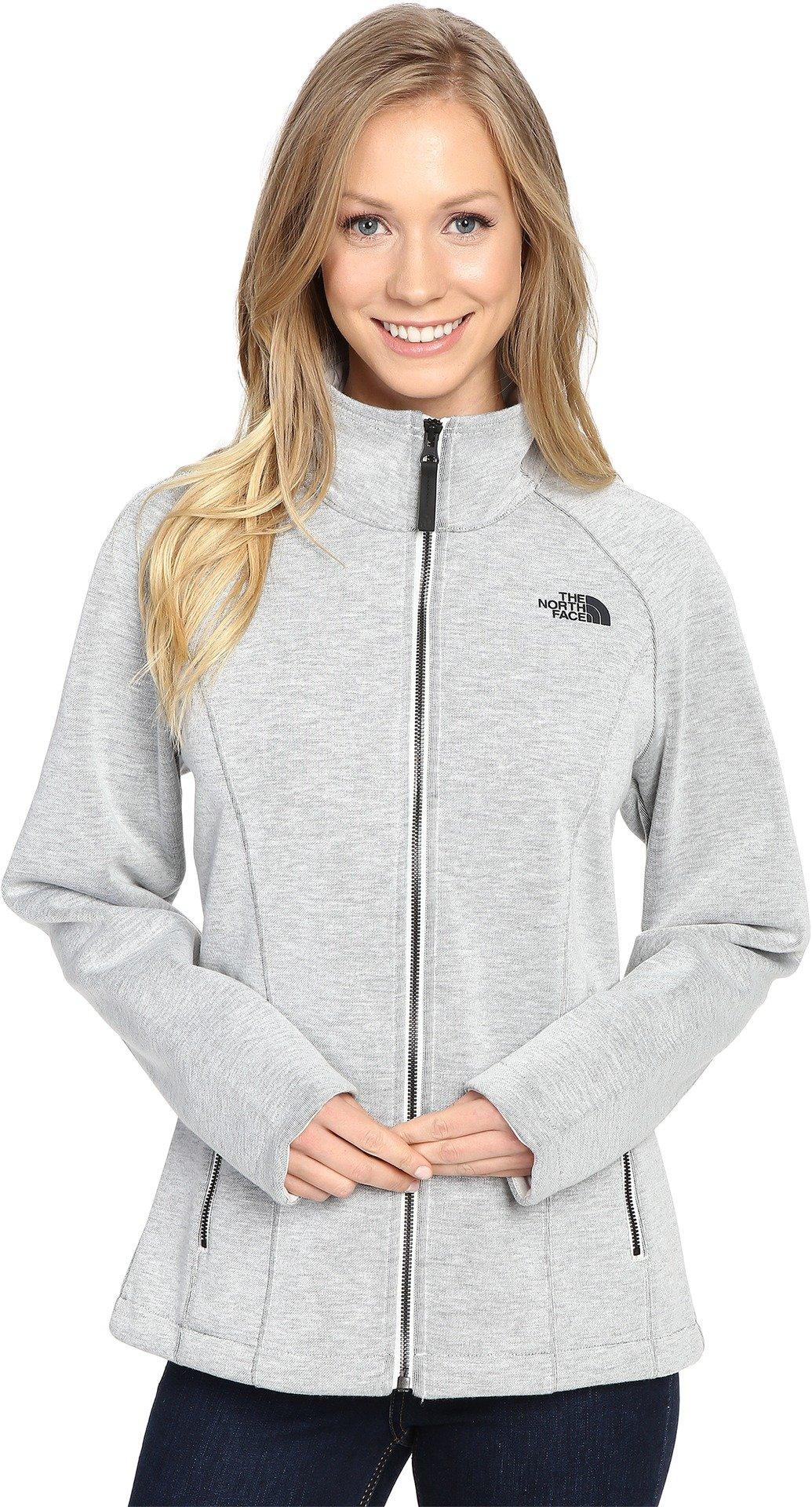 The North Face Women's Far Northern Full Zip Vaporous Grey Heather (Prior Season) Large