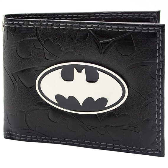 Cartera de DC Comics Batman Badge & Bat Símbolos Negro: Amazon.es: Equipaje