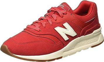 New Balance Zapatillas de Ante Rojas 997H para Hombre: Amazon.es ...
