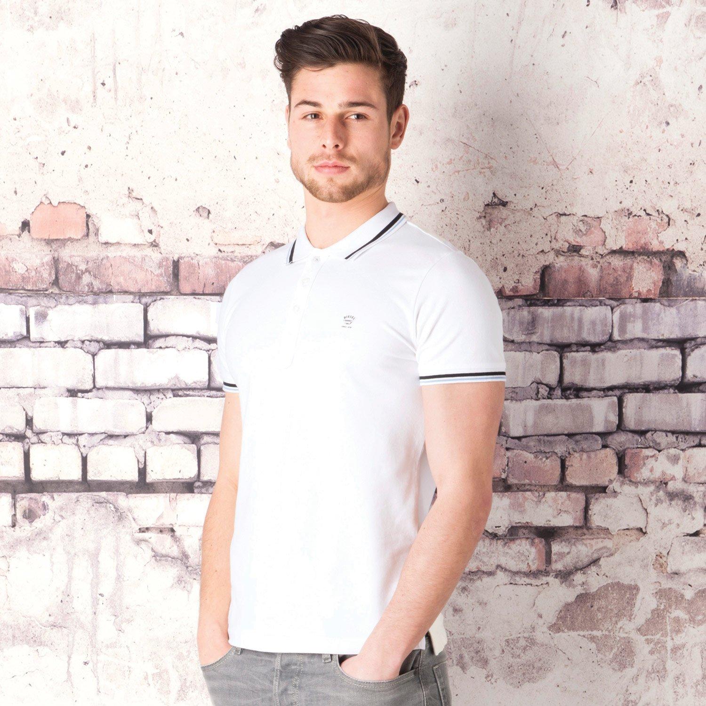Diesel Men's TOin Polo Shirt 42 inch White