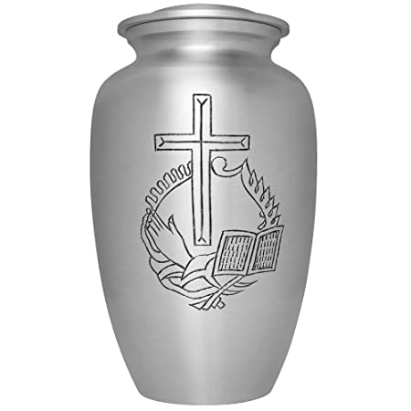 Memorial Gallery Custom Engraved Black and Brass Striped Cremation Urn 6 , Engraved