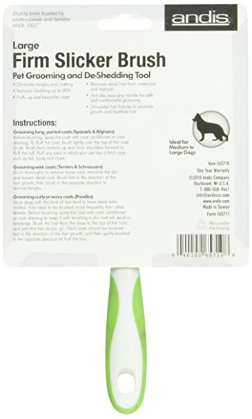 amazon com andis pet large firm slicker brush 65710 rh amazon com