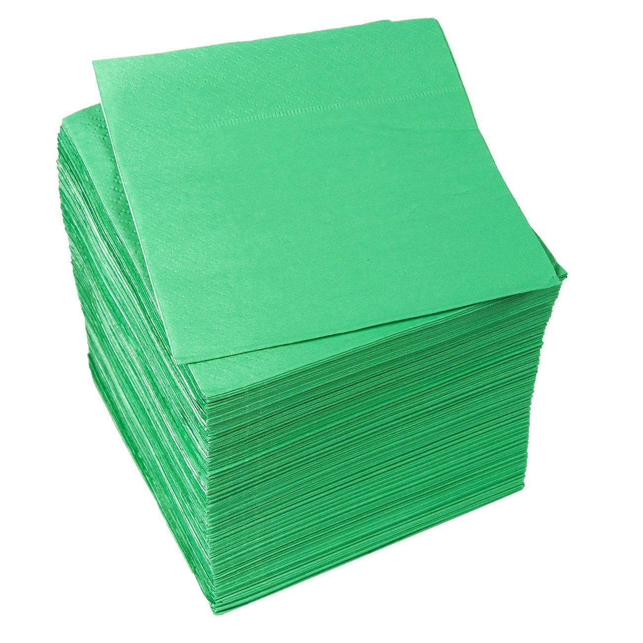 Cocktail Napkins - 200-Pack Disposable Paper Napkins, 2-Ply, Kelly Green, 5 x 5 Inches Folded by Blue Panda (Image #6)
