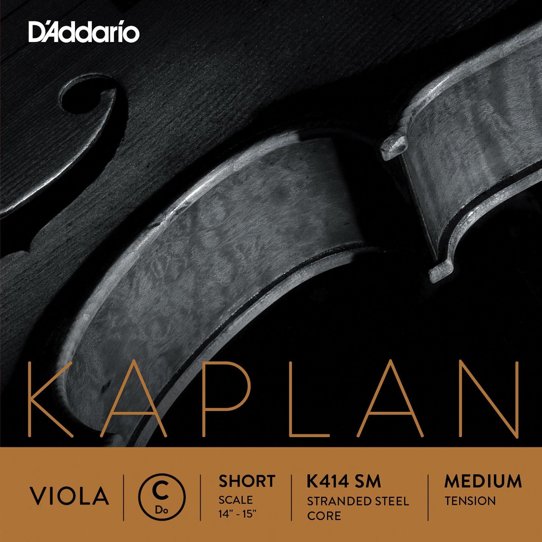 D'Addario Kaplan Viola Single C String, Short Scale, Medium Tension