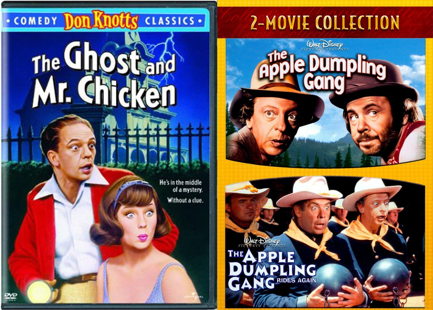 Trouble Afoot Don Knotts Tim Conway Comedy Gang Movie Pack Apple Dumpling Rides Again Double Feature + The Ghost and Mr. Chicken