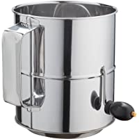 Kitchen Winners 8 Cup Crank Stainless Steel Flour Sifter by