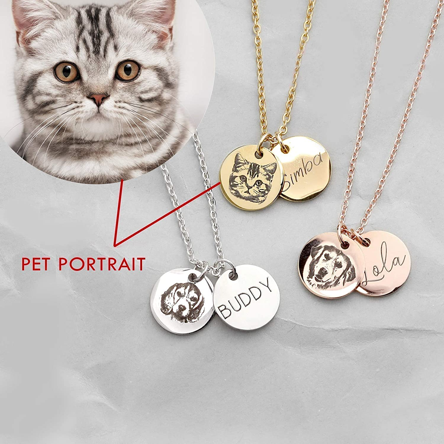 Cat Gifts Cat Memorial Cat Charm PERSONALIZED Cat Lover Gift Cat Necklace