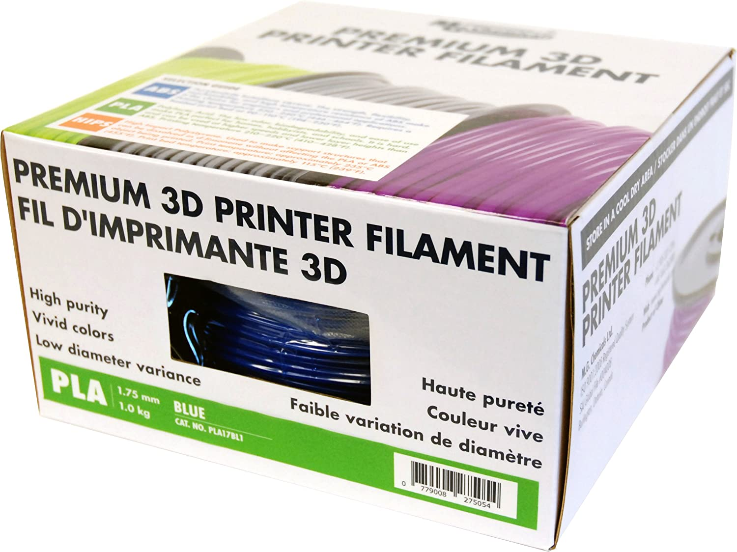 1.75 mm MG Chemicals Translucent PLA 3D Printer Filament 1 kg Spool PLA17TL1