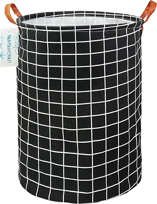Top 8 Black Grid Laundry Basket