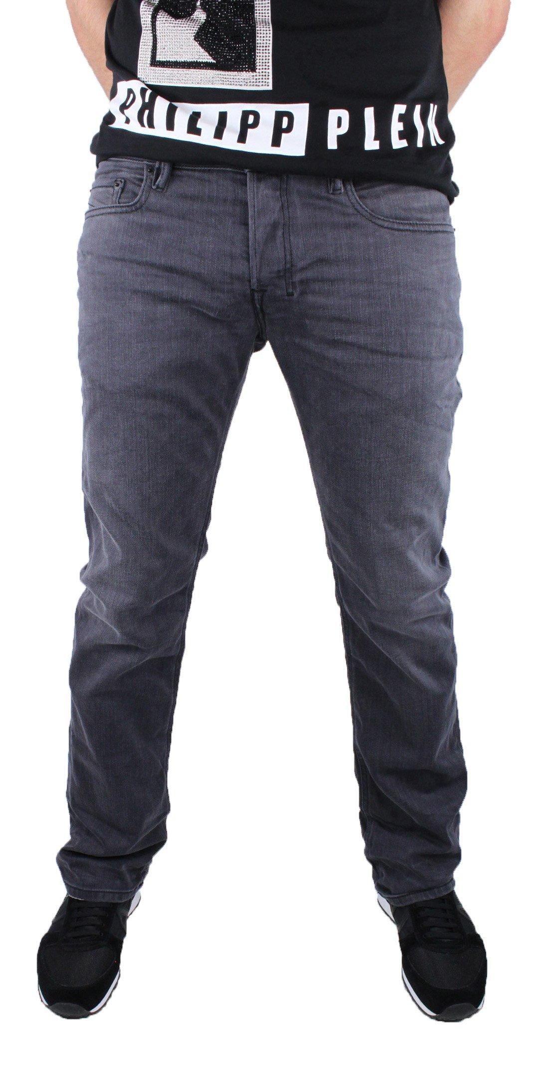 Diesel Mens Boot-Cut Stretch Jeans Zatiny 0859X Black/Grey (36W x 32L)