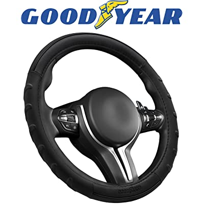 Goodyear GY1376 Black Wave Grip Steering Wheel Cover: Automotive