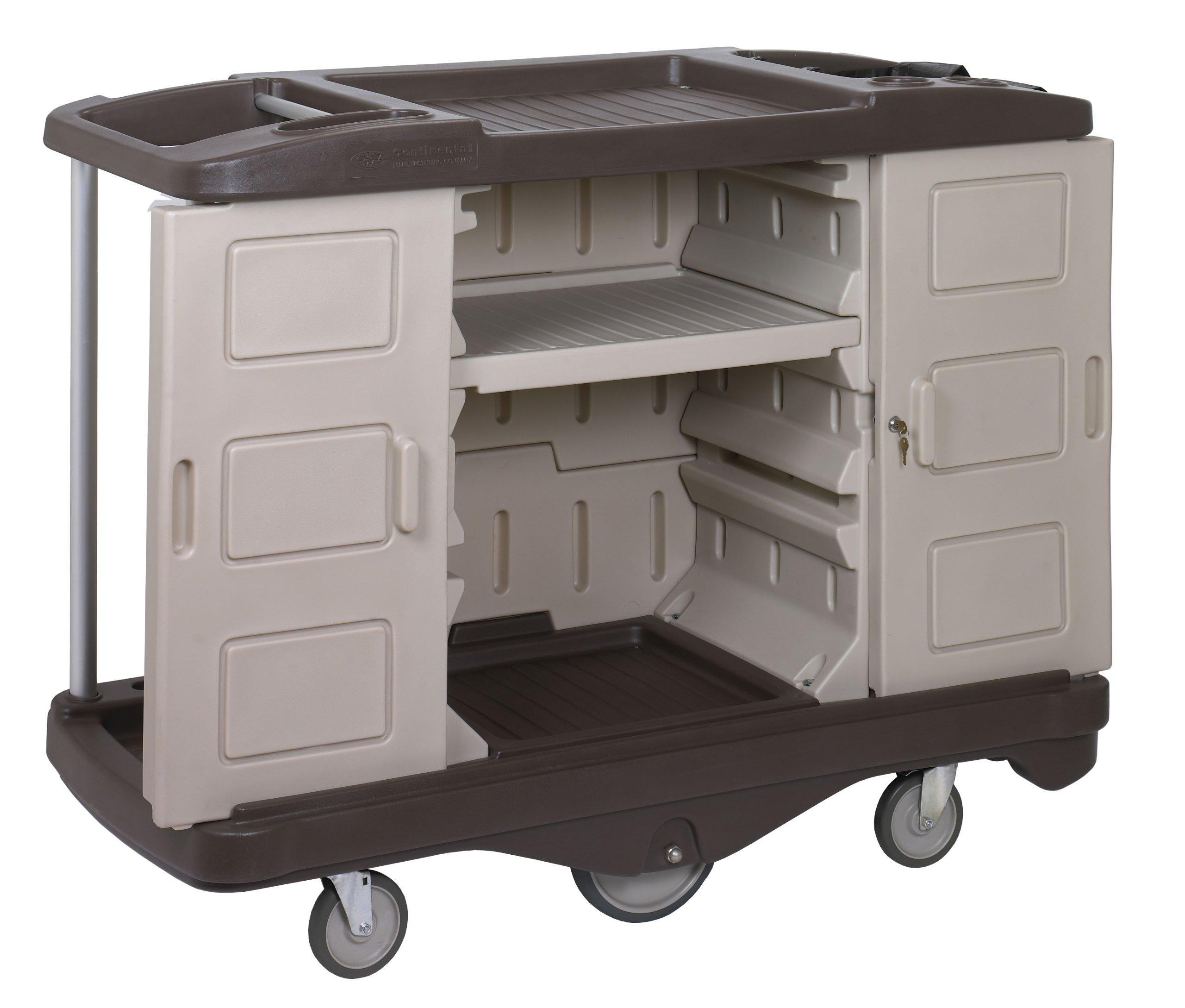 Continental 1585BEBN, Beige/Brown Deluxe Lodging Cart (Case of 1)