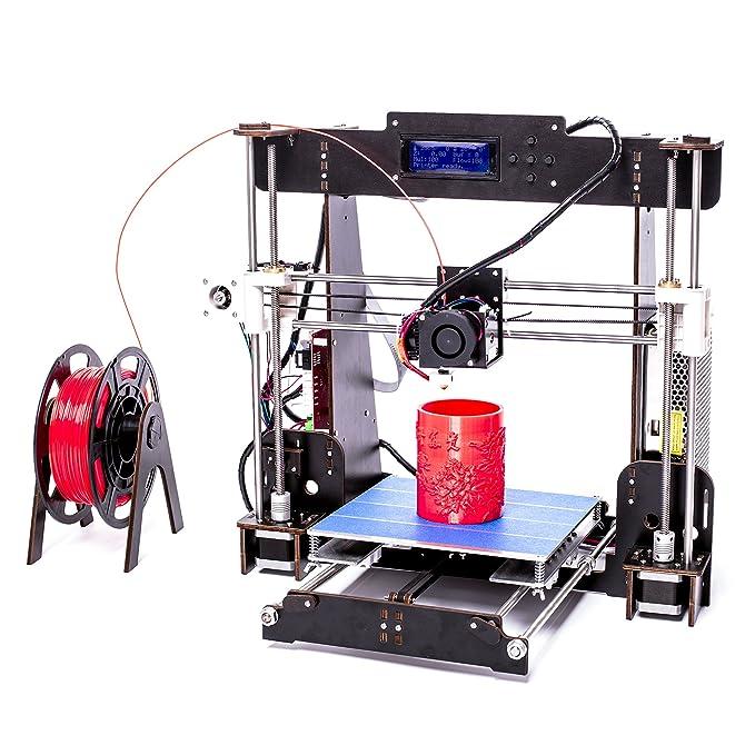 CTC A8 Impresora 3d Pantalla LCD Impresora DIY Alta precisión autoensamblaje admite ABS/PLA Tamaño de impresión 220 x 220 x 240 mm (BK-gran tamaño de ...