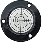 50x9mm High Accuracy Bulls-eye Level Bubble Spirit Level Rv Black With Mounting Holes (single)
