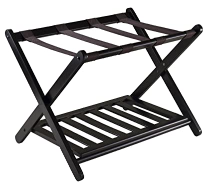 Amazon.com: Winsome 92436 Luggage Rack with Shelf: Home & Kitchen