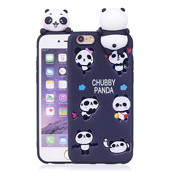 hot sale online be0ea 08a08 DAMONDY iPhone 6S Case,iPhone 6 Case,3D Cute Cartoon Animals Pattern Soft  Silicone Gel Slim Design Rubber Thin Protective Cover Phone Case for Apple  ...