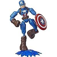 Marvel Avengers Figura Flexível de 15 cm, Bend and Flex Vingadores - Capitão América - E7869 - Hasbro