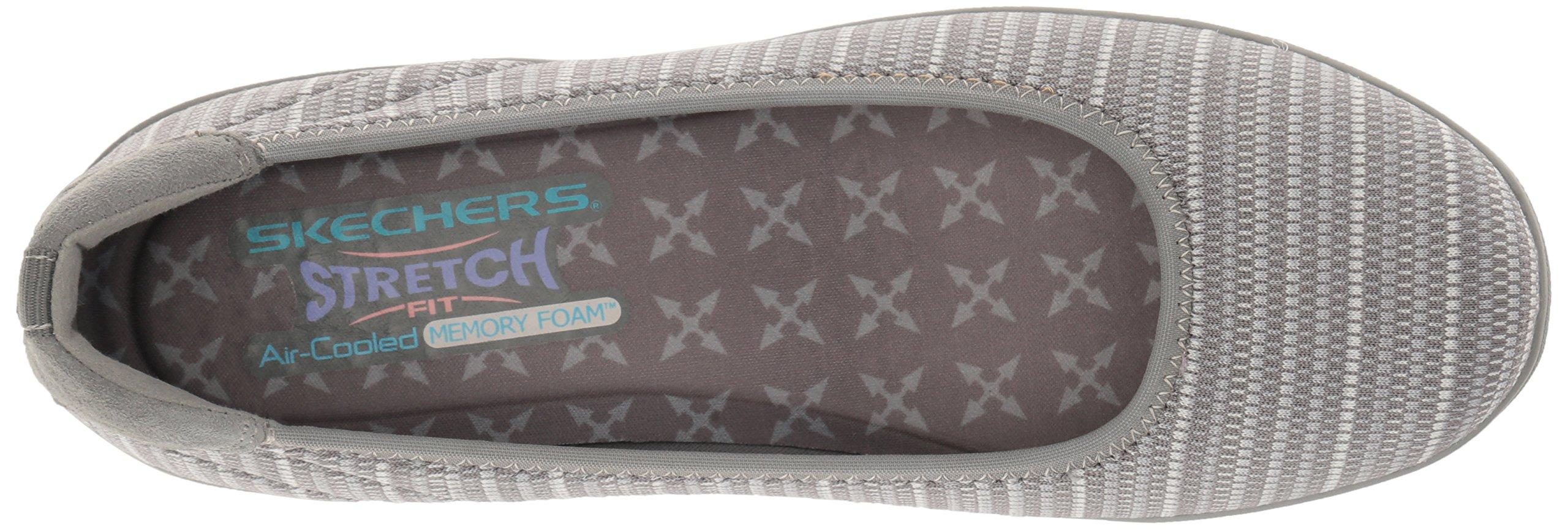 Skechers Women's Kiss-Secret Wedge Pump,Grey,7 M US by Skechers (Image #8)