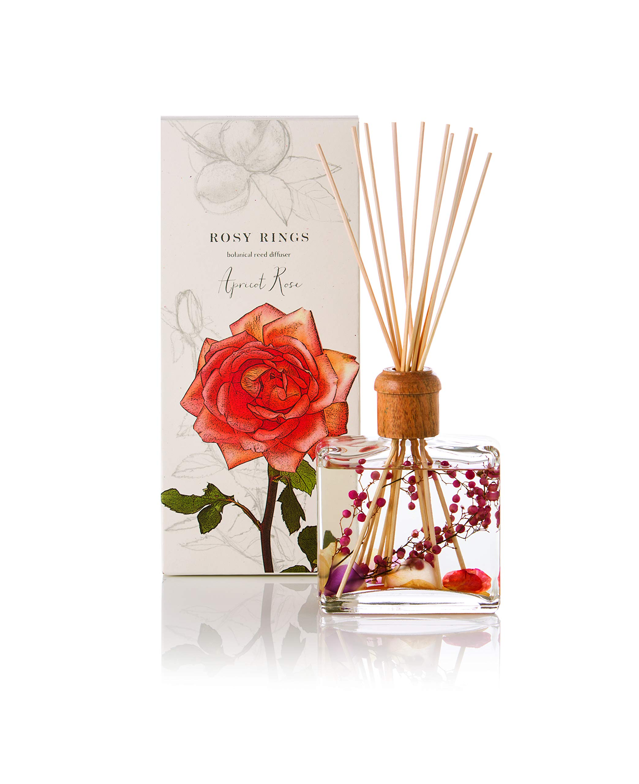 Rosy Rings Botanical Reed Diffuser - Apricot Rose by Rosy Rings