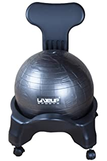 Office Fitness Exercise Ball Chair Black Includes air pump and