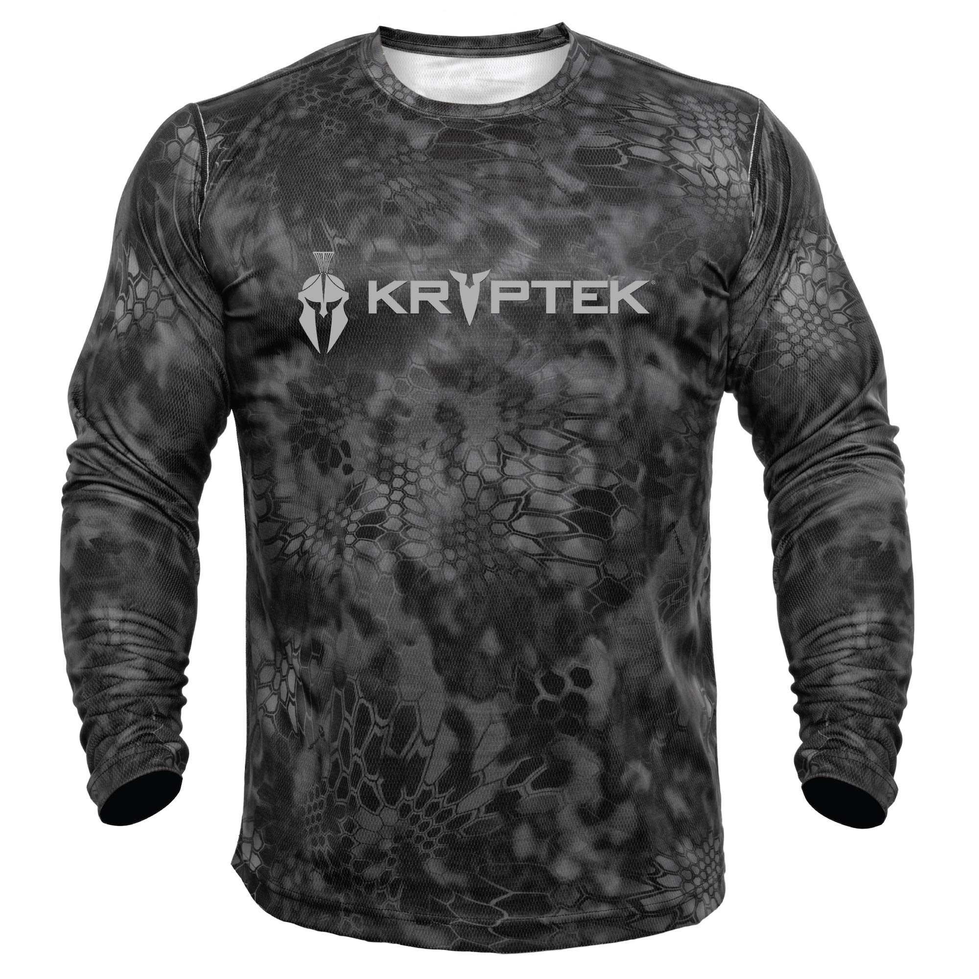 Kryptek Hyperion LS Crew with Logo - Long Sleeve Camo Hunting & Fishing Shirt (K-Ore Collection), Typhon, XL by Kryptek