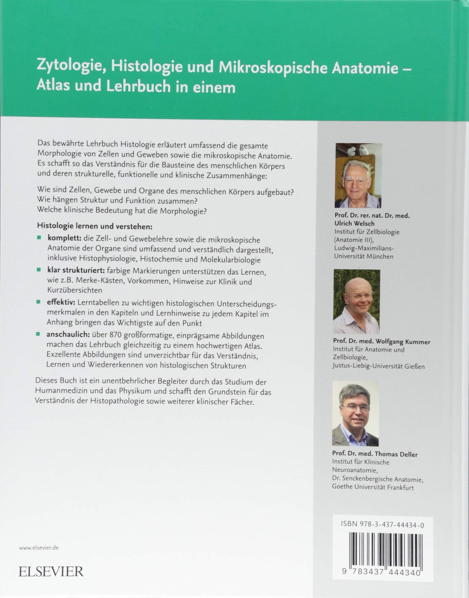 Lehrbuch Histologie: Zytologie, Histologie und mikroskopische ...