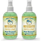Aromakrafts Natural Mosquito Repellent Room Spray with Essential Oils - Lavender, Eucalyptus, Lemongrass, Orange - Set of 2 (100 ml each)