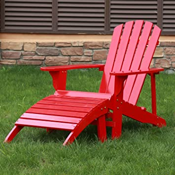 Peachy Songsen Outdoor Log Wood Adirondack Chair Ottoman Patio Dailytribune Chair Design For Home Dailytribuneorg