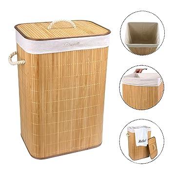 Gross Aus Bambus Waschekorb Faltbar Kleidung Sortiermaschine