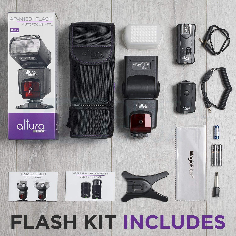 Amazoncom Altura Photo Professional Flash Kit For Nikon Dslr