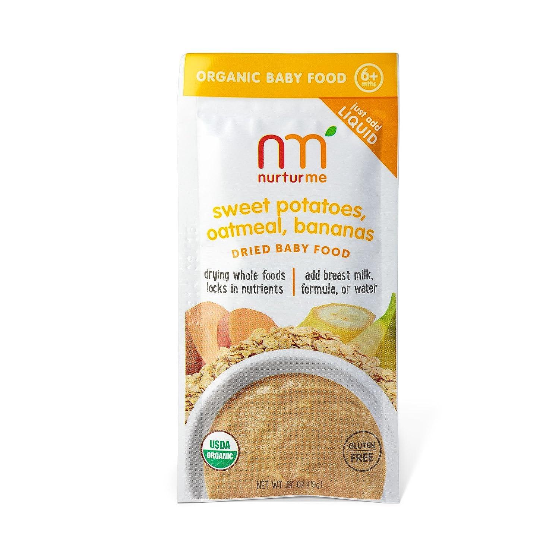 Secas alimentos para bebés, las patatas dulces, harina de avena, plátanos, 8 bolsas - NurturMe: Amazon.es: Alimentación y bebidas