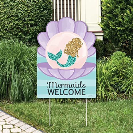 Amazon Com Big Dot Of Happiness Let S Be Mermaids Party