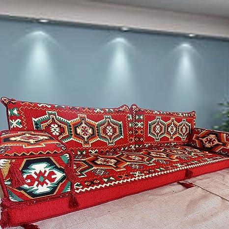 Piso Muebles Sofá, hecho a mano sofá para suelo, Majlis ...