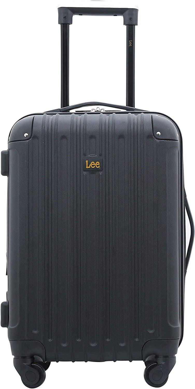 Lee 20 Hardside Spinner Expandable Carry-On Luggage, Black Color Option, One Size