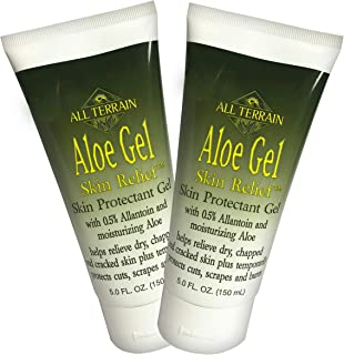 product image for All Terrain Natural Aloe Gel Skin Relief, Skin Protectant, 5oz (Pack of 2), With Moisturizing Aloe & Allantoin