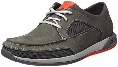 3c1c5cd5a6c6a Clarks Men's Ormand Sail Dark Grey Nubuck Leather Boat Shoes-6.5  (91261252807065)