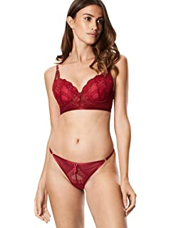 f8954a896f57 Ann Summers Womens Cecile Thong Floral Mesh Sexy Lingerie Black/Red ...