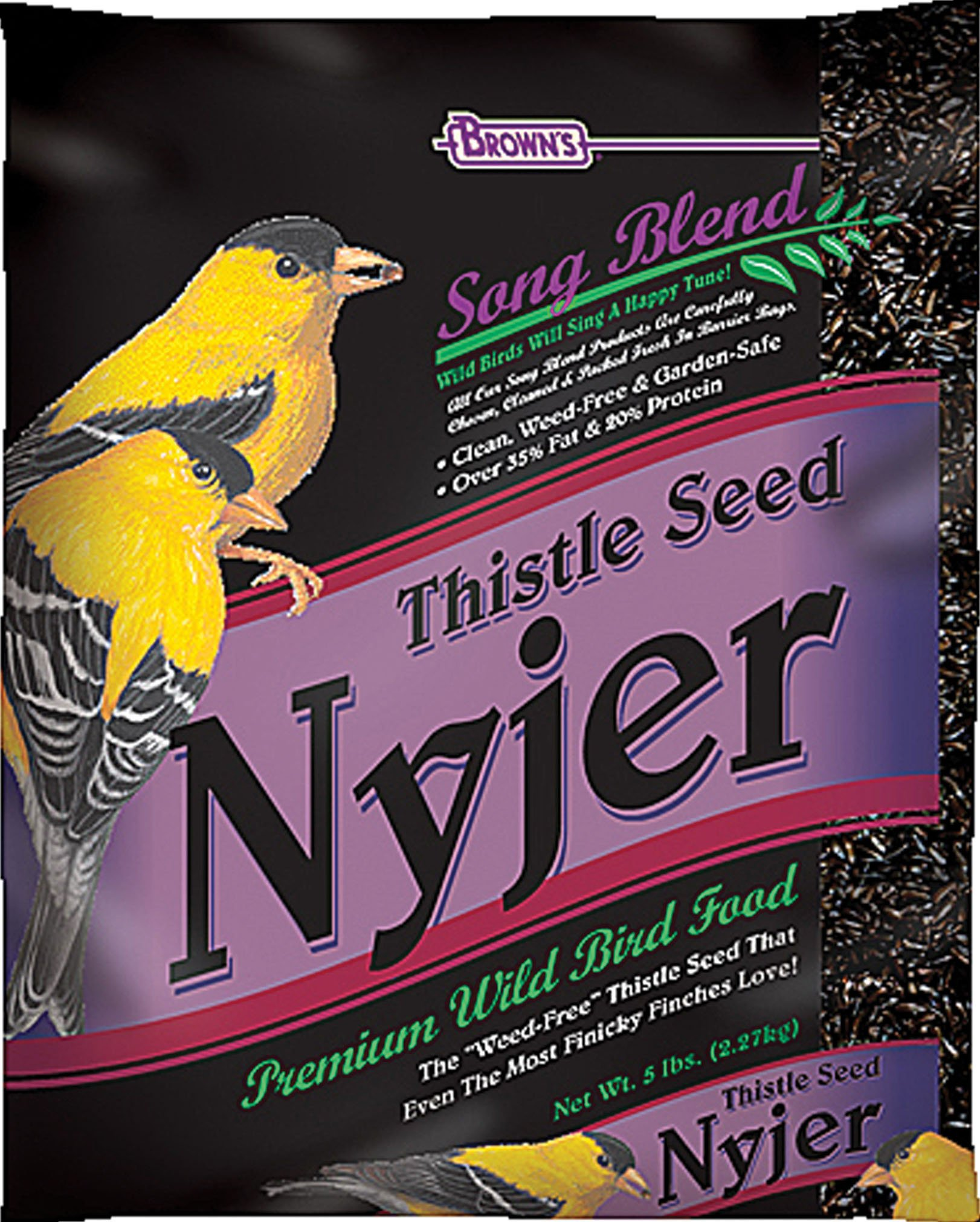 F.M. Brown's Song Blend Nyjer Thistle Seed for Pets, 2-Pound by F.M. Brown's