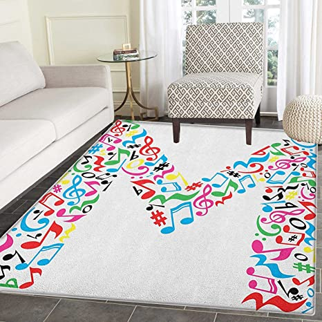 Amazon Com Letter M Rugs For Bedroom Major And Minor Notes And