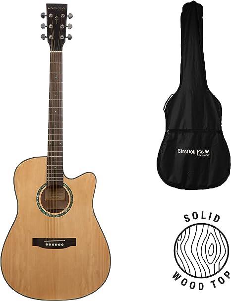 Stretton Payne D3 - Guitarra acústica de madera de abeto maciza ...