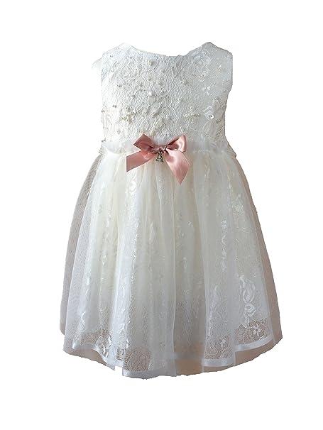 7f83e3f66a ANTONIA Bautizo fijo vestido floral vestido de niña Ivory de color blanco  alt weiß