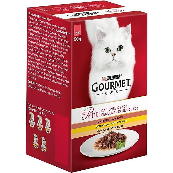 Purina Gourmet Mon Petit conmida para gatos con Pato, Pollo y Pavo ...