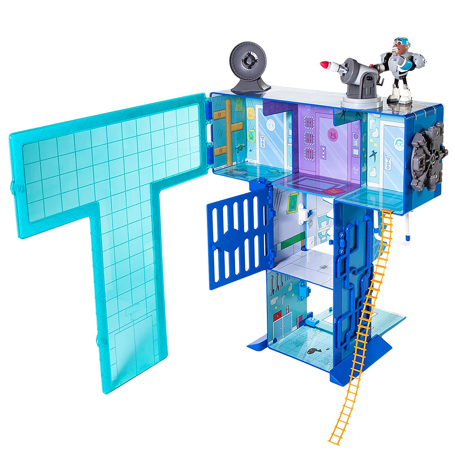 Amazon.com: Teen Titans Go! Teen Titans - T Tower Playset: Toys & Games