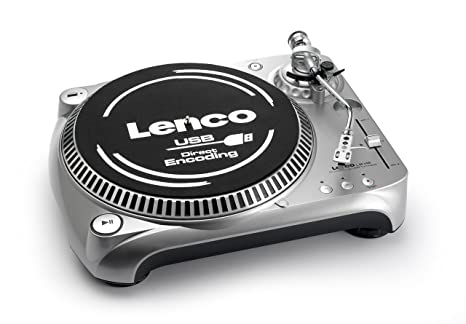 Lenco Turntable L-80 USB - Tocadiscos (Gris): Amazon.es: Electrónica