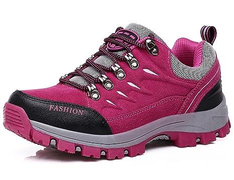 FMCAMEL Senderismo Botas Mens Ladies Trail Mountain Zapatos para Caminar Viajes Camping Outdoor Zapatillas más tamaño